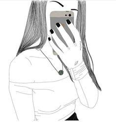 Tumbler, Selfie, Drawings, Draw, Wall Papers, Paper, Tumblr Girls, Tumblr Drawings, Interiors