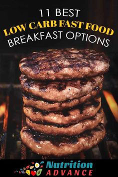 In a morning rush and don't want cereal or bread? Here are 11 low carb fast food breakfast options that you can easily buy no matter where you are. From burgers and salads to low carb and keto cafe…More 8 Indulgent Keto Breakfast Recipes Keto Fast Food Breakfast, Breakfast On The Go, Low Carb Breakfast, Breakfast Recipes, Healthy Fast Food Options, Fast Healthy Meals, Healthy Lunches, Healthy Foods, Healthy Eating