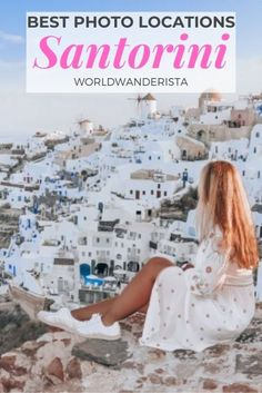 The most beautiful photo locations in Santorini - World Wanderista Pink Houses, White Houses, Epic Photos, Cool Photos, Santorini Travel, Red Beach, Best Travel Guides, Before Sunrise, Photo Location