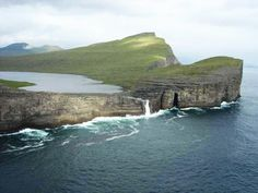 Sorvagsvatn Lake in Vagar, one of the 18 islands in the archipelago of the Faroe Islands, in Denmark - BUCKET LIST