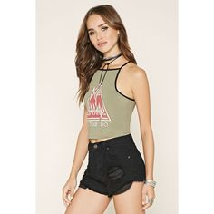 Forever 21 Women's  Def Leppard Crop Top ($15) ❤ liked on Polyvore featuring tops, crop, cami top, graphic tops, camisole tops, crop top and camisole crop top