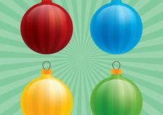 Glossy Christmas Ornament Vectors