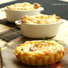 pastry with cheese & smoked salmon