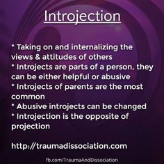 Introjection - does your inner critic remind you of anyone? #psychology #childabuse #ptsd http://traumadissociation.com/alters.html/introject https://www.facebook.com/TraumaAndDissociation/photos/a.410699469031485.1073741872.357814604319972/637620879672675/?type=1
