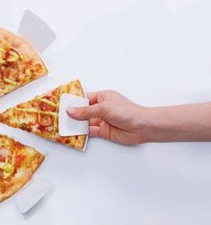 This Paper Plate is Shaped Like a Slice of Pizza for Easy Serving #Plates #Tablewear