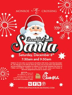 Download A Breakfast With Santa Logo You Can Use For Your Flyers - Christmas save the date templates free