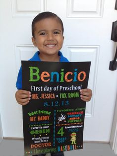 First day of school sign, Back to school