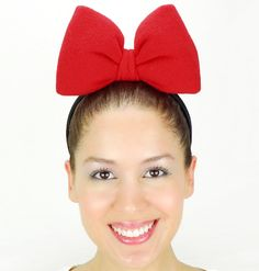 Minnie Mouse Inspired Big Bow Headband.