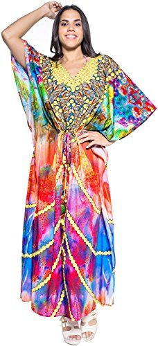 63b46b2fc60 Women Likre Designer Jewels Beach Wear Kimono Night Caftan Maxi Dress Light  Blue Valentines Day Gifts 2017 -- More info could be found at the image url.