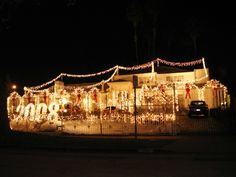 like all those lights.  Dear Homeowner, the airport called...they want their runway lights back!