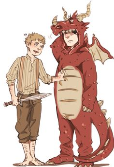 """Jawn, let's go back to the flat."" ""Sure O Smaug the Tremendous."""