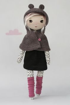 Szczypta. Adorable doll clothes #ragdoll #handmade