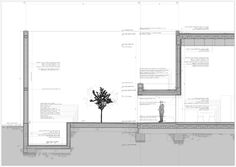 Image 3 of 20 from gallery of Guerrero House / Alberto Campo Baeza. Photograph by Roland Halbe Detail Architecture, Architecture Graphics, Green Architecture, Architecture Drawings, Construction Drawings, Architectural Section, Famous Architects, Layout, Master Plan