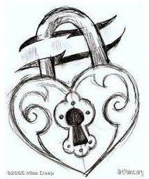 Pencil Art Drawings, Art Drawings Sketches, Cool Drawings, Easy Heart Drawings, Broken Heart Drawings, Love Heart Drawing, Easy Drawings Of Love, Drawings Of Hearts, Easy Drawings Of Animals