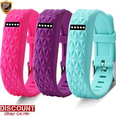 Fitbit Flex 3 PK Multi Accessory Wristbands Bands Coral// BLack//Teal S Small NEW