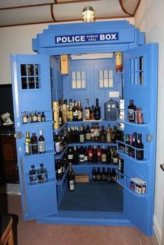 Party Tardis liqueur cabinet... Not bad