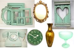 Vintage Mint Green Colored Wedding Decor Ideas