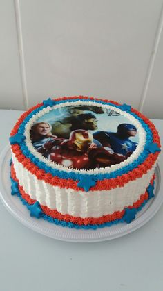 Cupcakes Cakes For Boys Simple 67 Best Ideas Avengers Birthday Cakes, Birthday Cake For Mom, Birthday Cupcakes, Happy Birthday, Fun Cupcakes, Cupcake Cakes, Pastel Avengers, Captain America Cake, Cupcake Recipes From Scratch