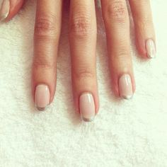 A twist on the classic french mani.