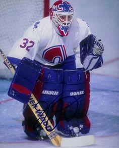 Jacques Cloutier Quebec Nordiques Autographed Signed Photograph w/COA Hockey Goalie Gear, Ice Hockey, Nhl, Quebec Nordiques, Goalie Mask, Colorado Avalanche, National Hockey League, Sport, Sports
