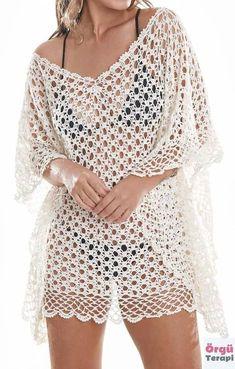 Crochet Poncho, Crochet Cardigan, Knit Crochet, Crochet Stitches, Mode Crochet, Crochet Pillow, Crochet Woman, Crochet Videos, Beautiful Blouses
