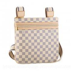 Louis Vuitton Damier Azur Canvas Handbag LV N51112