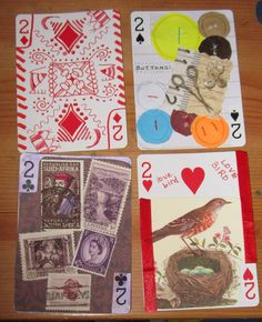 altered playing cards art - Google Search