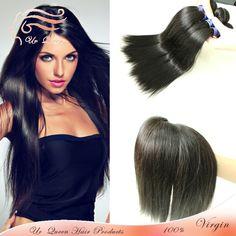 Queen Rosa hair 6A straight hair extension brazilian 3pcs lot virgin human straight hair natural color brazilian straight hair  $133.00 - 238.00