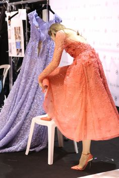 Backstage at Elie Saab Spring Couture 2014 [Photo by Delphine Achard]