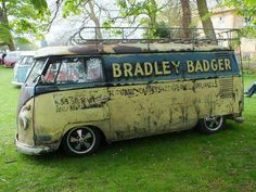 Distressed Bradley Badger VW Bus ☮ pinned by https://www.soundroyalties.com/