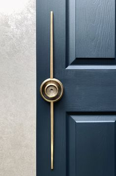 Beautiful modernist door handle inspired by the Bauhaus movement. designed by Philip Watts