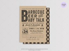 baby bbq and beer shower | BBQ Beer & Baby Shower Invitation Card - DIY Printable Digital Party ...