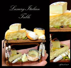 Luxury Italian Table - Artisan fully Handmade Miniature in 12th scale. From After Dark miniatures.