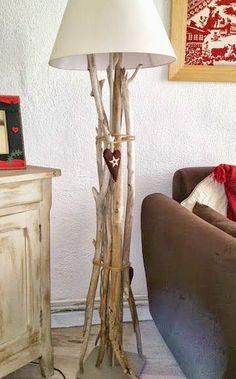DIY Driftwood Floor Lamp: http://www.completely-coastal.com/2015/10/coastal-ikea-lamp-hacks.html
