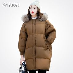 Beieuces 2017 Long Winter Jacket Women Large Fur Hooded Coat Thicken Parkas Outwear Fashion Bread Loose Style Winter Coat #Affiliate