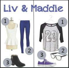 liv and maddie costumes | ... blonde wigs . Liv's should be curly and Maddie's should be straight maddie fake glasses and a jersey and sneakers liv small boot with heel dark blue leggings and a shirt with a scurt attached belt around waste