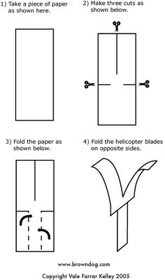 Easy Paper Helicopter