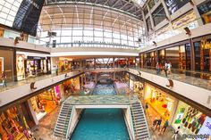 Singapore. Marina Bay Sands. The Shopping Mall