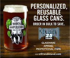 Personalized, Reusable Glass Cans
