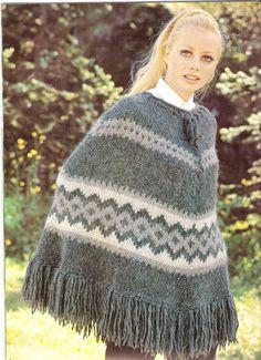 PONCHO  Knit Poncho Pattern  VATNAJOKULL by suerock on Etsy, $3.99