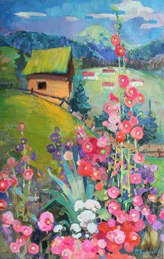 Buy Fairytale house, Oil painting by Anastasiia Grygorieva on Artfinder. Oil Painting Flowers, Oil Painting Abstract, Diy Painting, Painting Portraits, Garden Painting, House Painting, Easy Paintings, Landscape Paintings, Oil Painting Techniques