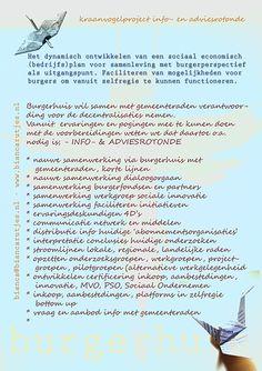 #kraanvogel project info- en adviesrotonde #burgerhuis