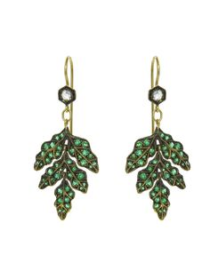 (CATHY WATERMAN) Emerald Forest Earrings Featured in Vogue Magazine