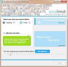 Stop alle distrazioni da social network con questo simpatico programmino