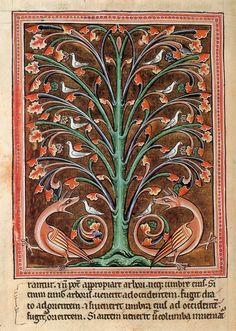 perindens, un árbol de la magia y la guarda de las aves, ca. 1220