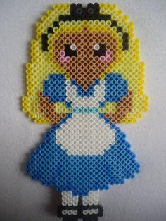 Dsiney Alice in Wonderland perler beads by by PerlerHime