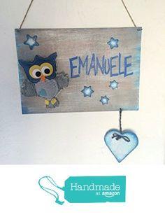 Originale fiocco nascita: cartello in legno nascita con gufetto da Laura Idee Creative https://www.amazon.it/dp/B01KLQ9XNM/ref=hnd_sw_r_pi_dp_WsQ5xb8SHHB6P #handmadeatamazon