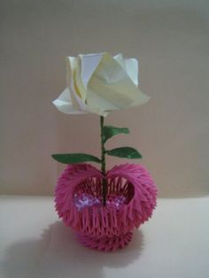 3D Origami - Heart Vase