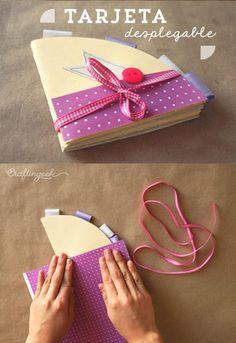 Te enseño un scrapbook super bello, Tarjeta circular desplegable. #tutorial…