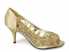 3707dbf53e1 Image Name  Melanie Gold Metallic Low Heel Evening Shoes File Size  396 x  396 pixels bytes) Image Name  Abby Gold Metallic Low Heel E.